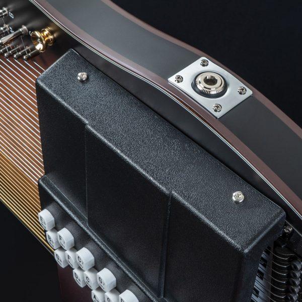 closeup of output jack on Autoharp