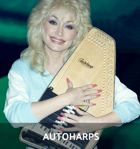 Woman holding Autoharp
