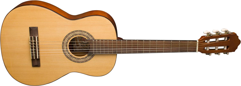 cream Oscar Schmidt half size classical guitar