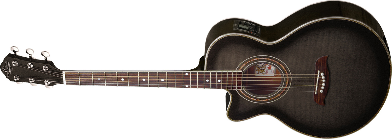 grey Oscar Schmidt acoustic guitar