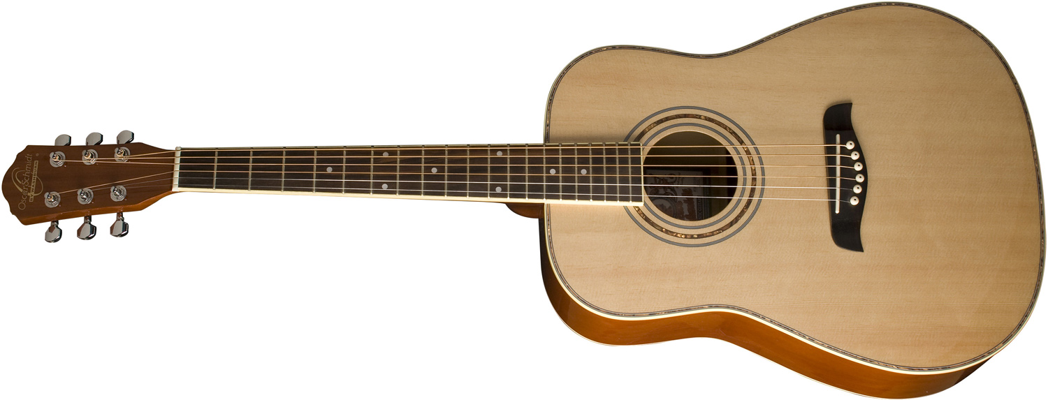 Oscar Schmidt light brown acoustic guitar