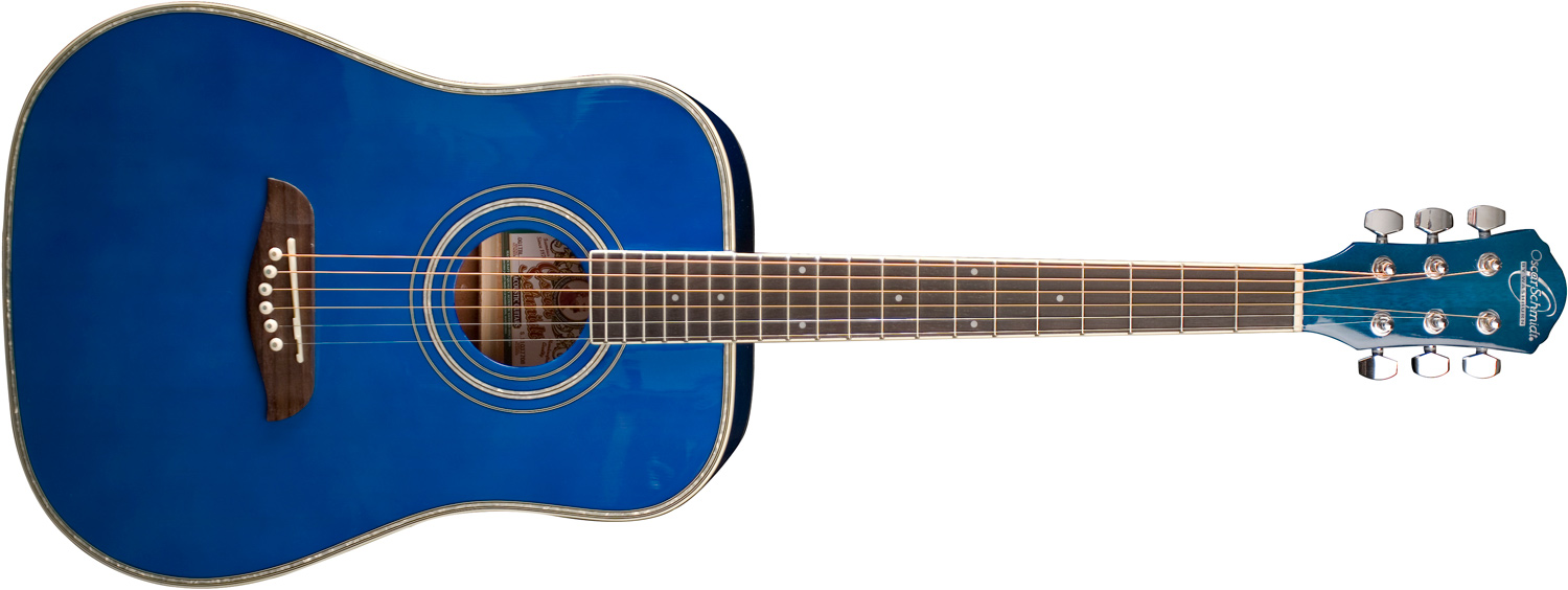 Oscar Schmidt royal blue acoustic guitar