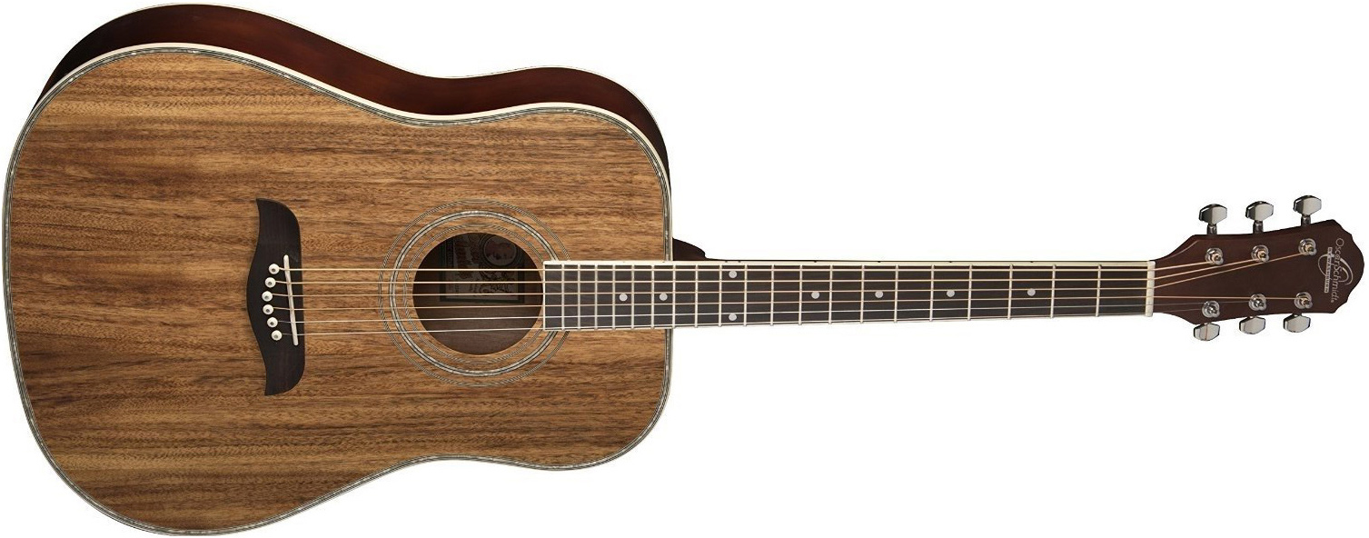Oscar Schmidt light brown wood design acoustic guitar