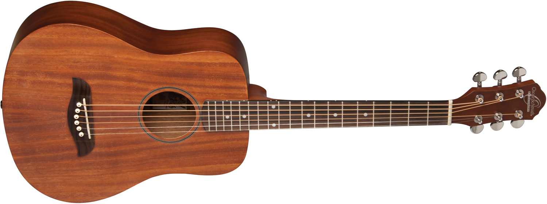 Oscar Schmidt brown wood acoustic guitar