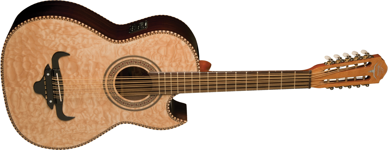Oscar Schmidt OQ40SE Acoustic-Electric Latin Cuatro with Bag