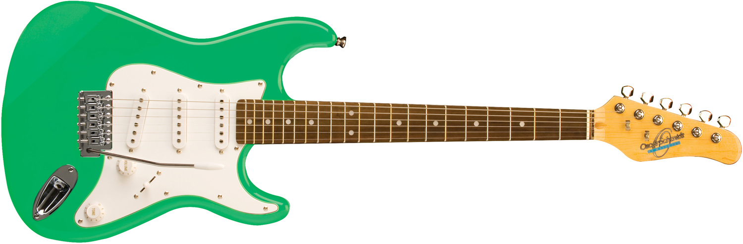 Oscar Schmidt green electric guitar