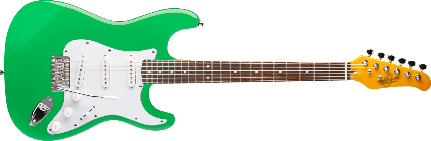 green Oscar Schmidt electric guitar