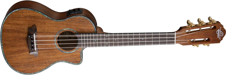 Oscar Schmidt medium wood 6-string ukulele with edge designs