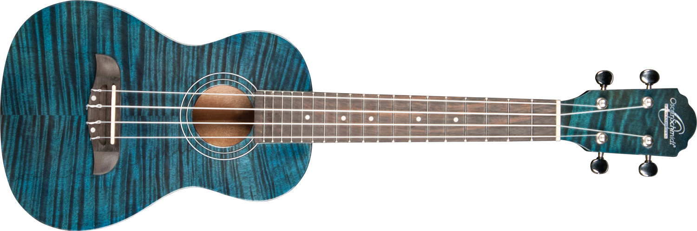 blue striped Oscar Schmidt ukulele
