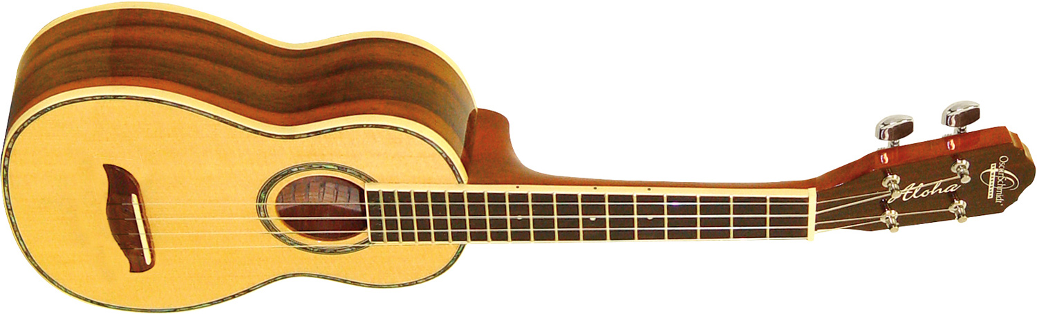 Oscar Schmidt light and dark wood ukulele